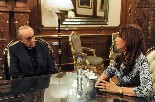 Bergoglio y Kirchner