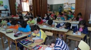 Aula de primaria en una escuela española
