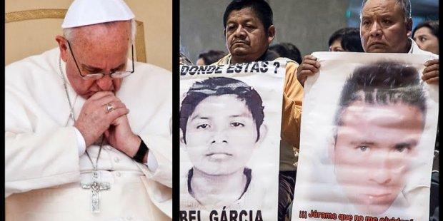 Papa Francisco y padres de desaparecidos