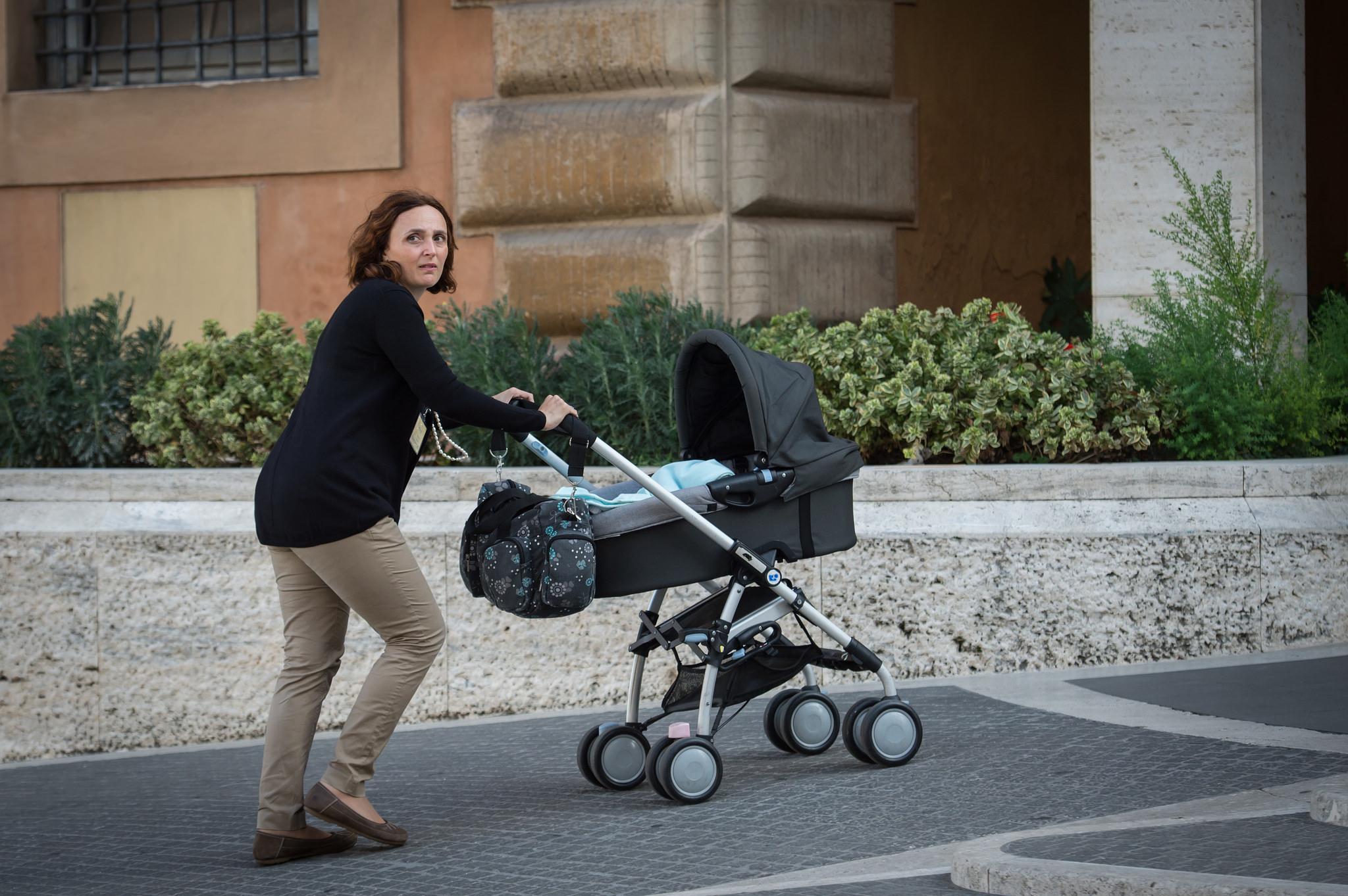 La mamá de Davide, el pequeño de 4 meses que participa en el Sínodo