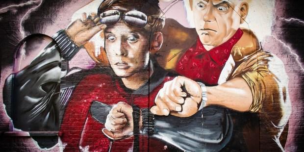 mural Volver al Futuro