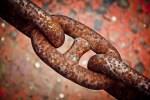 cadenas herrumbradas