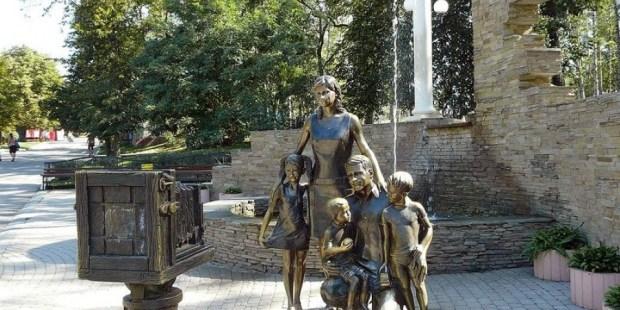estatua familia