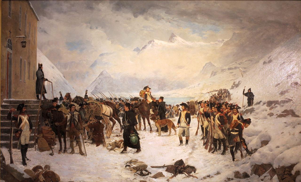 Evocando las glorias militares de Aníbal, tanto Alejandro Magno como Napoleón también utilizarían el mismo paso para llevar sus ejércitos a Italia
