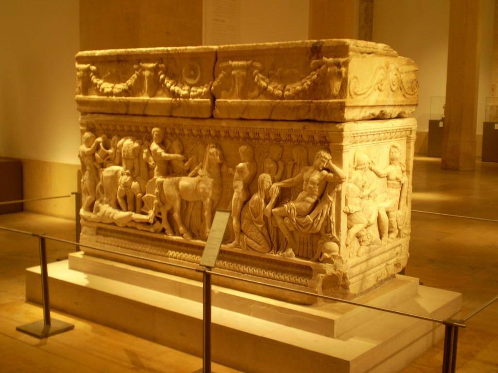 Sarcófago con la narración del mito de Aquiles, Museo Nacional del Líbano