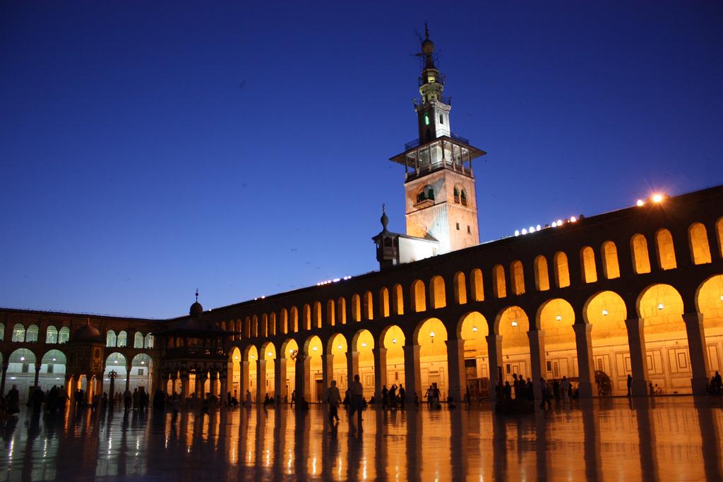 Mezquita de Umayyad, en Damasco.