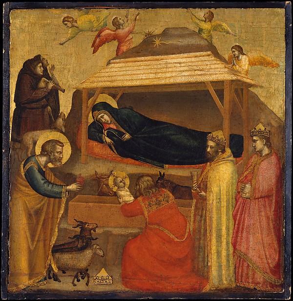 La pieza de Giotto es dramática, narrativa, dotada de una nueva humanidad inédita, cuando se le compara con sus pares medievales.