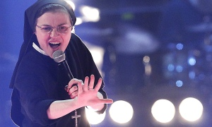 Sister Cristina Scuccia performs during The Voice of Italy in Milan