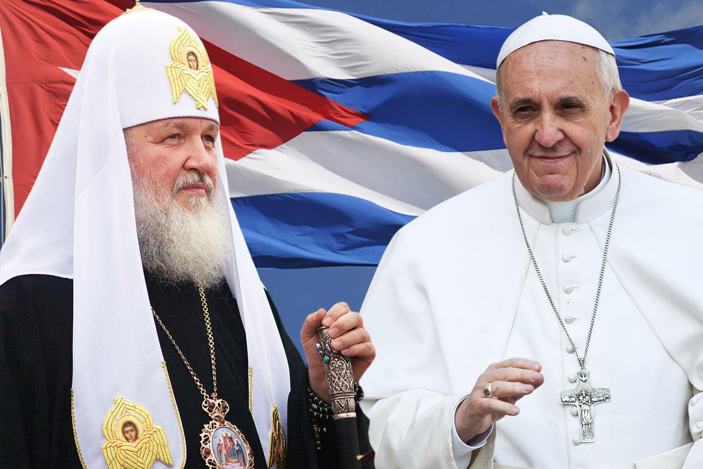WEB-CUBA-POPE FRANCIS-PATRIARCH-KIRILL-Serge Serebro, Vitebsk Popular News -© Mazur-catholicnewsorguk-Stefano Liboni-cc