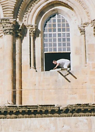 El intento de robo de la escalera, en 1981, fue frustrado de inmediato por la policía israelí