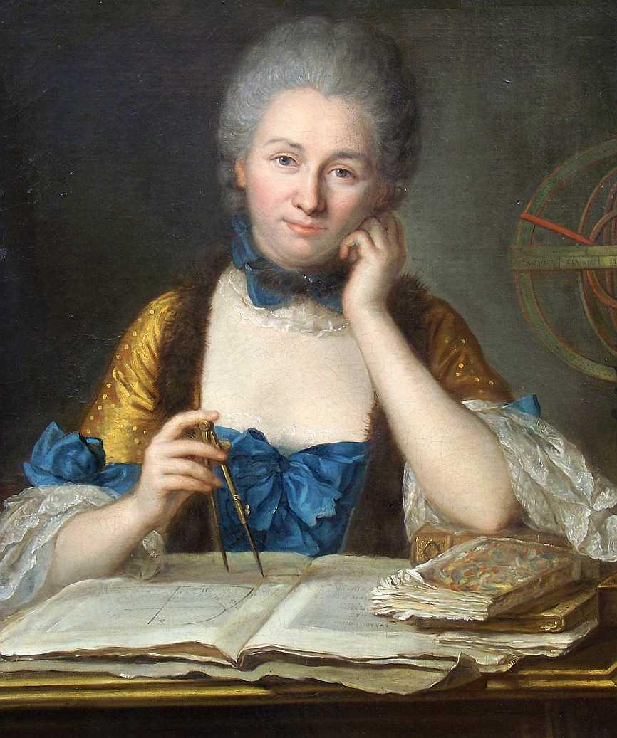 Emilie Du Chatelet, retratada por Latour.
