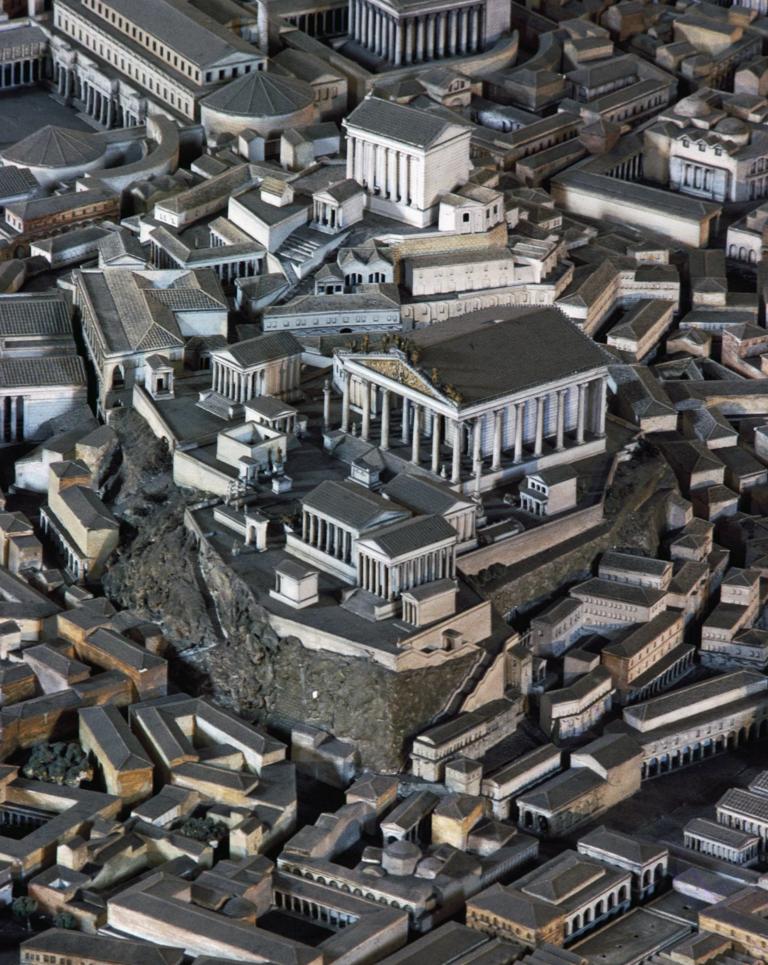 El templo de Júpiter, en la colina Capitolina