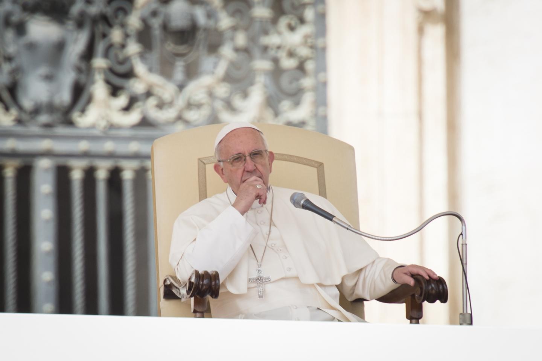 Pope Francis Sitting - Chiar - Thinking