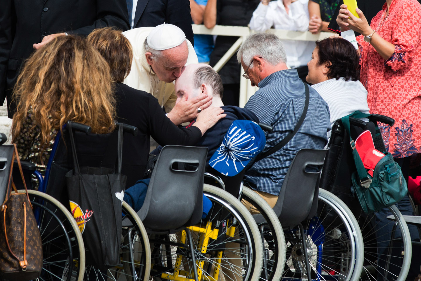 Pope Francis blesses the sick