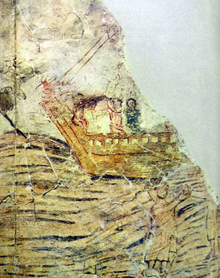 En la casa se consiguieron fragmentos de los que podrían estar entre los primeros frescos con imágenes bíblicas de la historia del cristianismo.