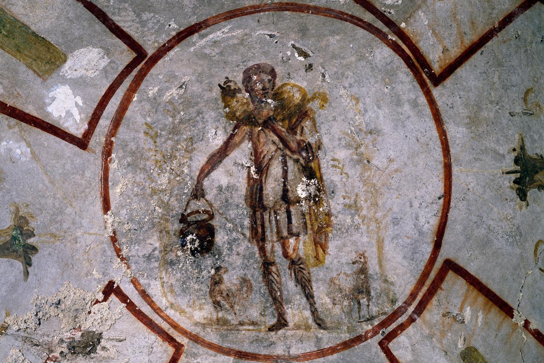 ILa escultura original del moscóforo, considerada una obra maestra de la estatuaria arcaica griega, data del año 570 antes de Cristo.