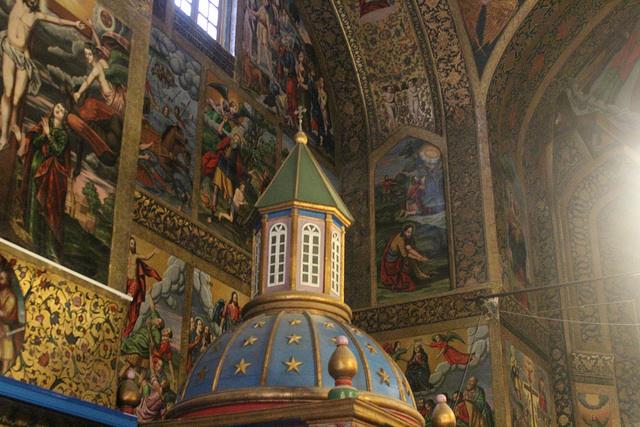 Magníficas pinturas en el interior de la catedral