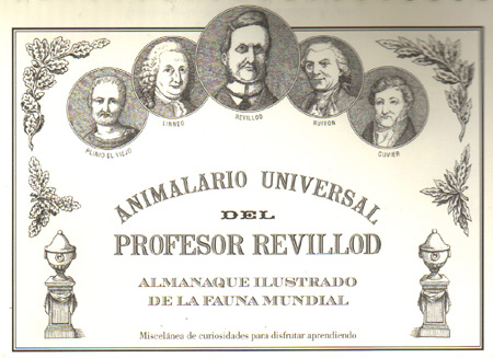 Una de las obras más populares de Castán, el Animalario Universal del Profesor Revillod.