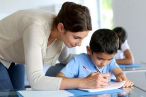 profesora y alumno