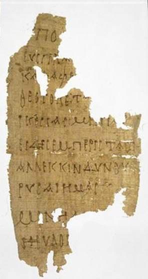 """El papiro está escrito en griego koiné (esto es, la llamada """"lengua franca"""" del Mediterráneo de entonces, en el que fueron escritos los Evangelios), y contiene una serie de oraciones que parecen pertenecer a una liturgia copta de Navidad, aunque el fragmento en cuestión puede ser una copia privada, para uso personal, de la oración original en cuestión."""