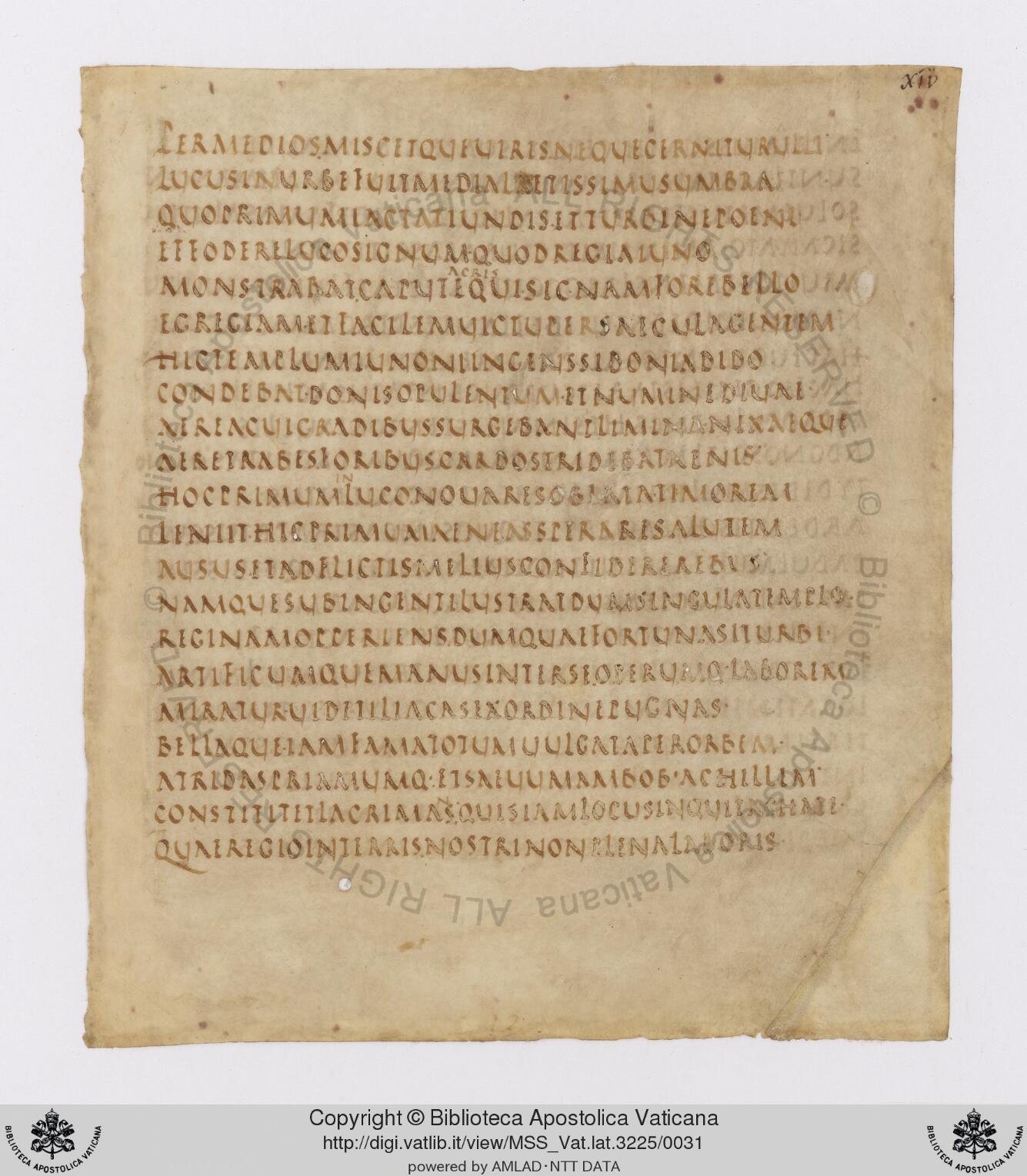 Virgilio escribió originalmente ambos poemas entre los años 29 y 19 antes de Cristo. El manuscrito conservado en la biblioteca Vaticana, que alguna vez probablemente contenía la totalidad de la obra canónica de Virgilio, fue escrito varios siglos más tarde.