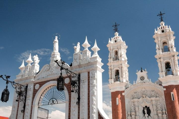 exterior de la basílica de Tlaxcala