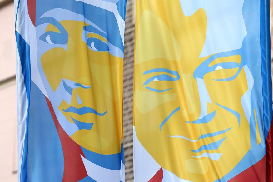 Santa Faustina y Juan Pablo II
