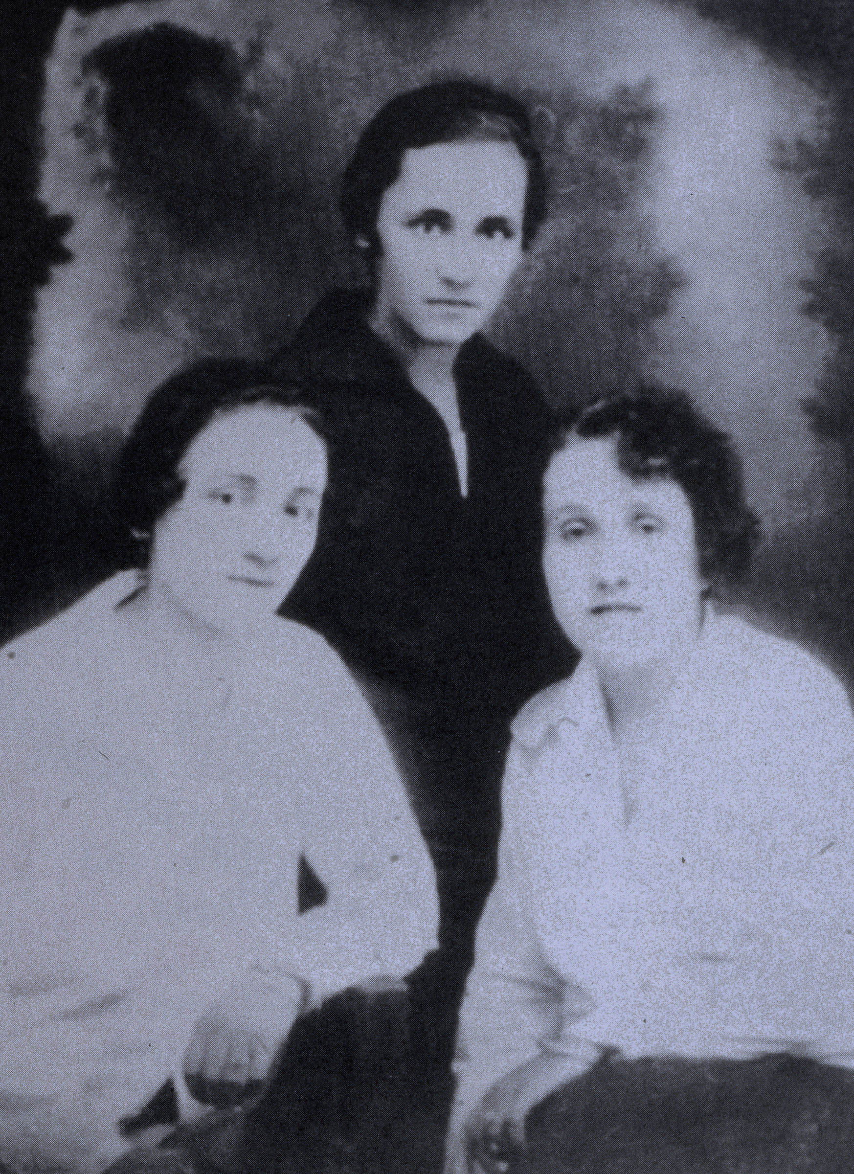 The young Albanian born Anjez�� Gonxhe Bojaxhiu, future Mother Teresa of Calcutta (C), with her sister Aga (L) and a friend, a few days before her departure to the Loreto Abbey in Rathfarnham, Ireland, to learn English, the language the Sisters of Loreto used to teach school children in India. (Photo by Vittoriano Rastelli/Corbis via Getty Images)
