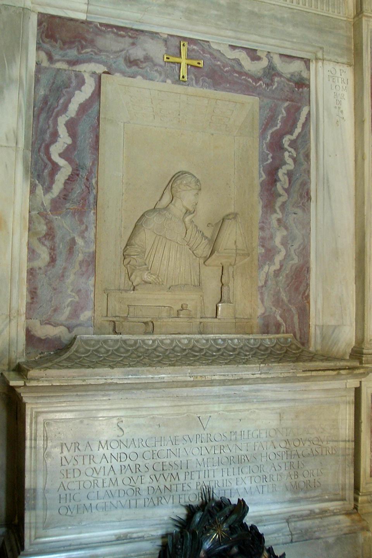 Doscientos años después de su muerte, la ciudad de Florencia decidió edificar un mausoleo para recibir el féretro del poeta, que el Papa Leo X había mandado a traer de vuelta a la ciudad. Sin embargo, Ravenna desobedeció la orden papal y Florencia sólo recibió un ataúd vacío
