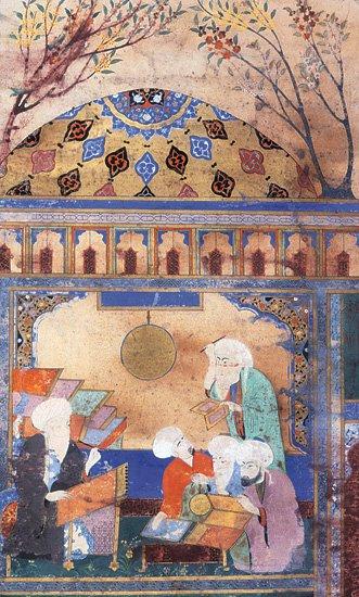 Tusi en el observatorio de Maragha. By Unknown - Saudi Aramco World. May/June 2007 edition., Public Domain.