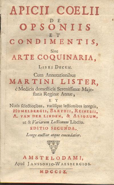Atribuido tradicionalmente a Marco Gavio Apicio, quien vivió en el siglo I (en tiempos del emperador Tiberio) en realidad el texto es del sigo IV o V.