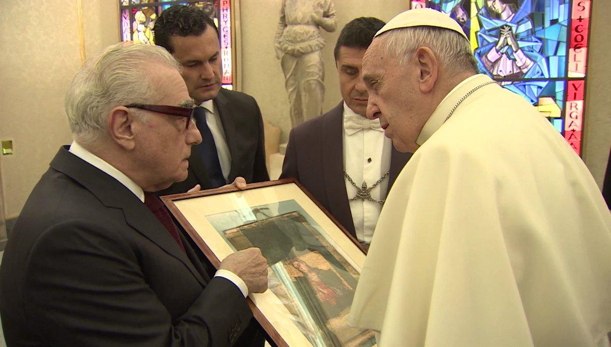 ©CTV audiencia privada del papa Francisco a Martin Scorsese