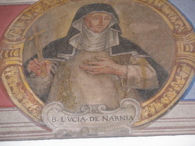 La Beata Lucía Brocadelli, mejor conocida como Lucía de Narni, era una terciaria dominica de profunda vida mística. Foto de Fgiusepp (talk) (Uploads) - Own work, CC BY-SA 3.0,