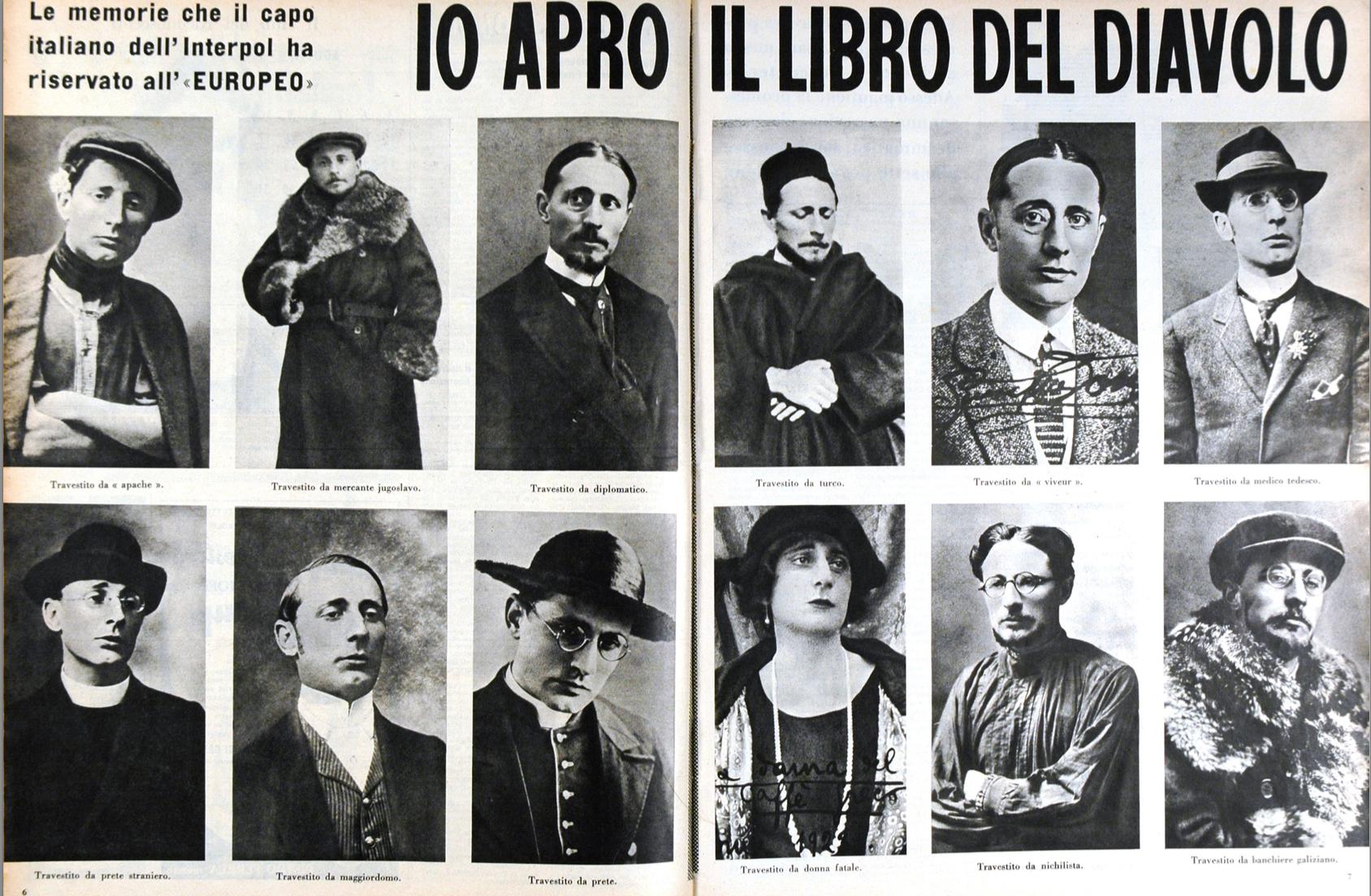 GiuseppeDosi y sus disfraces de investigador - Foto©PoliziaStato
