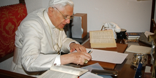 POPE BENEDICT,LIBRARY