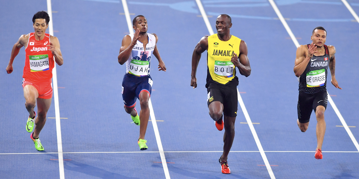 USAIN BOLT,TRACK AND FIELD