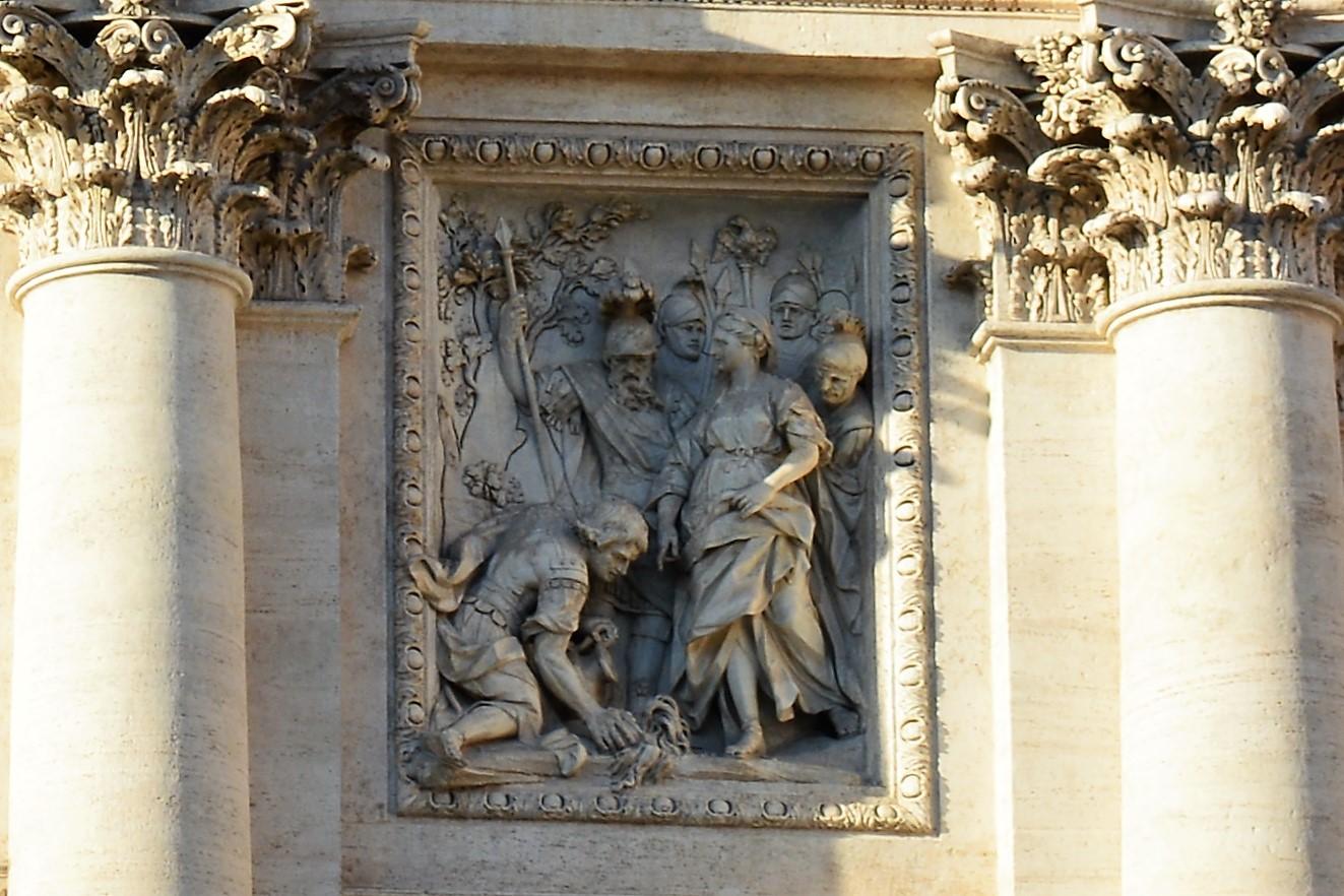 Bajo relieve Fontana di Trevi