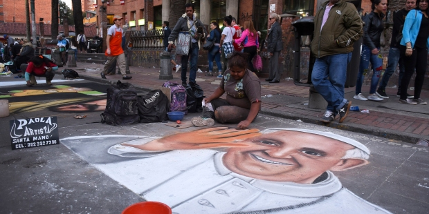 POPE FRANCIS,COLOMBIA,ART