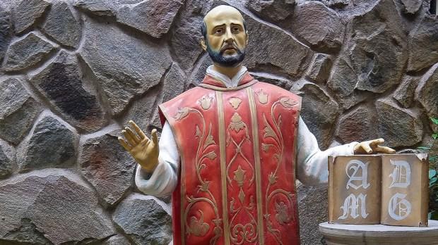 ST IGNATIUS LOYOLA,STATUE,JESUIT,AMDG