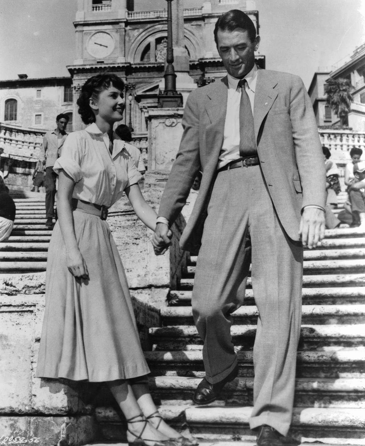 Audrey Hepburn i Gregory Peck w Rzymskich wakacjach