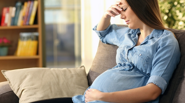 Upset Pregnant Woman