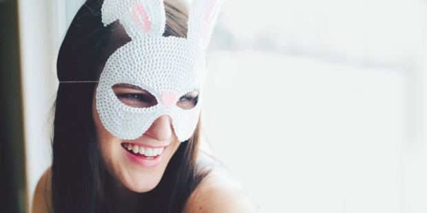 WOMAN,BUNNY MASK