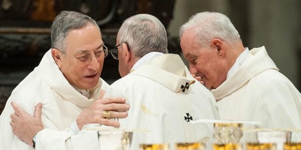 Pope Francis and Card. Maradiaga