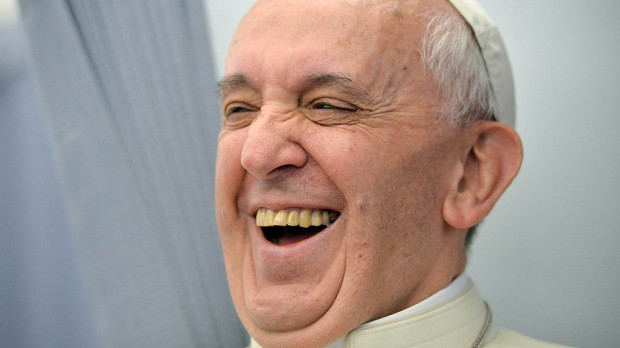 POPE FRANCIS LAUGHING