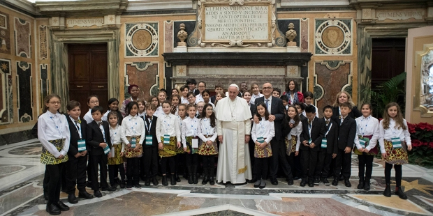 Pope Francis Audience Artists Christmas Concert