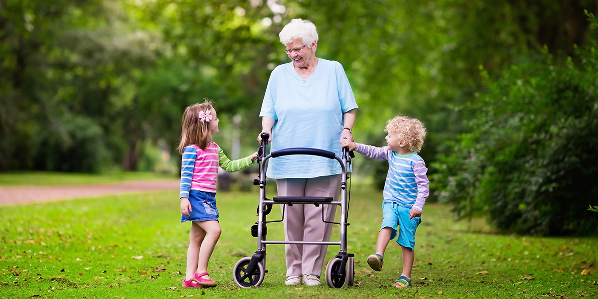 Grandmother with grand children