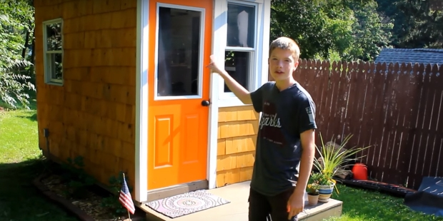 LUKE THILL,13 YEARS OLD,TINY HOUSE