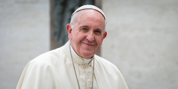 POPE FRANCIS AUDIENCE HAPPY