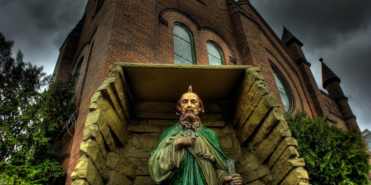ST. JUDE,STATUE,WEATHER