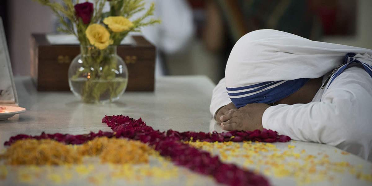 The tomb of Mother Teresa